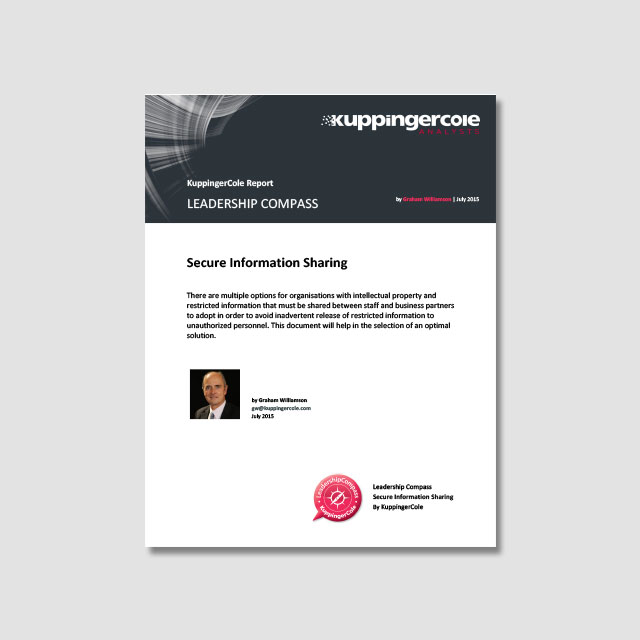 KuppingerCole's Leadership Compass: Intralinks Named as Leader for Secure Information Sharing