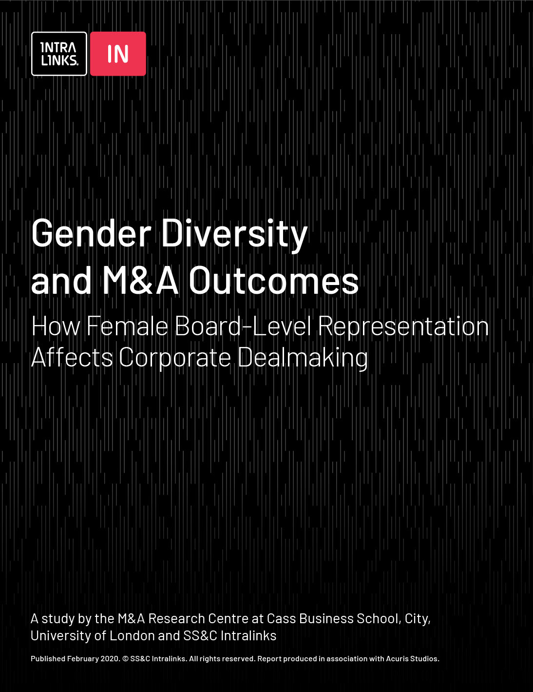 Gender Diversity and M&A Outcomes report cover