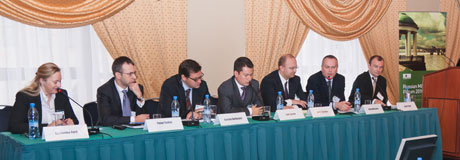 "Getting a deal done in Russia"" panel discussion (Intralinks' Philip Whitchelo second from the right)"