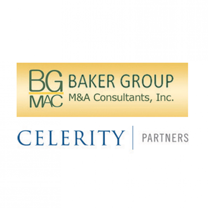 Baker Group M&A Consultants, Inc and Celerity Partners logos