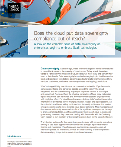 A look at the complex issue of data sovereignty as enterprises begin to embrace SaaS technologies.