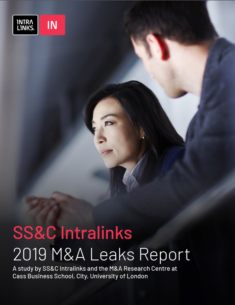 2019 SS&C Intralinks Annual M&A Leaks Report cover