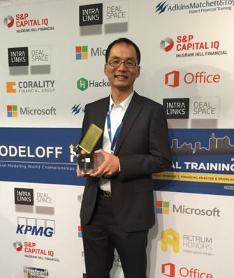 Financial Modeling World Champion of 2015, Joseph Lau from the Commonwealth Bank of Australia