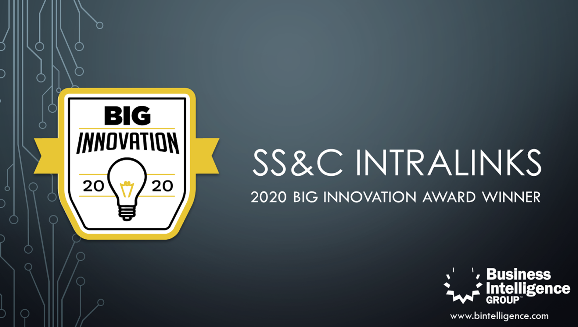SSNC Intralinks Deal Marketing BIG Innovation Award 2020