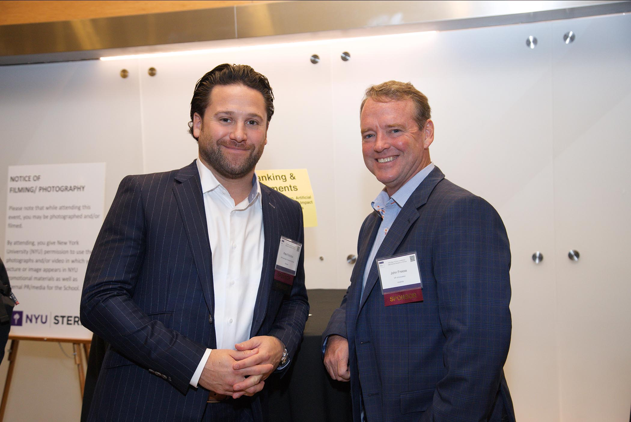 Intralinks' Peter Frintzilas and John Freese at NYU Stern Fintech Conference 2018