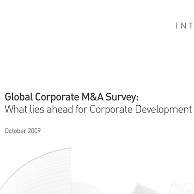 2009 Global M&A Survey