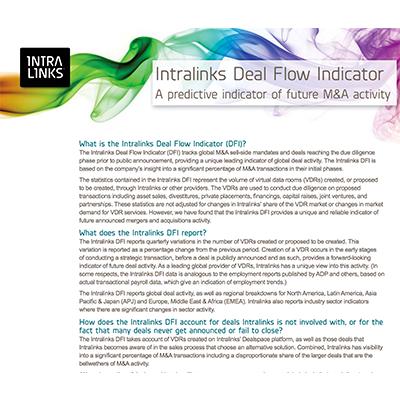 Intralinks Dealspace Deal Flow Predictor