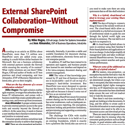 External SharePoint Collaboration – without Compromise