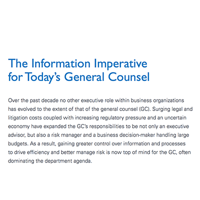 Intralinks white paper: The Information Imperative for Today's General Counsel