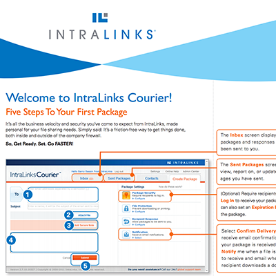 Intralinks Courier Quick Start