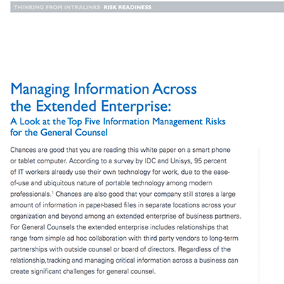 Managing Information white paper