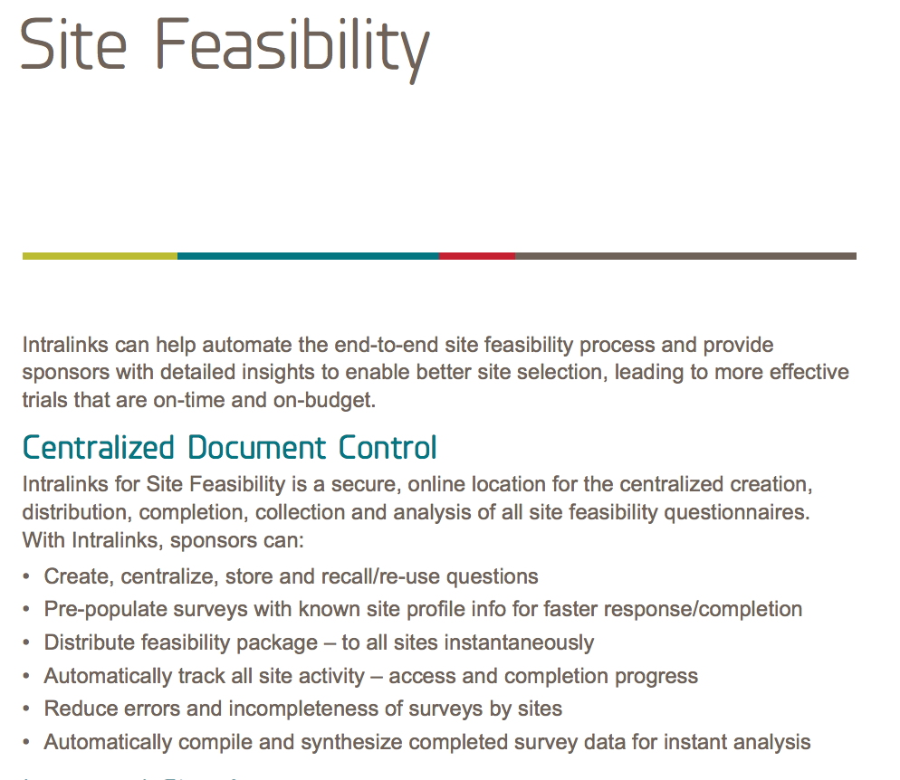 Site Feasibility white paper