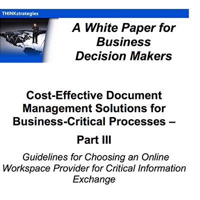 Cost-Effective Document Management Solutions for Business-Critical Processes – Part III