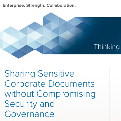 white paper sharing sensitive corporate documents