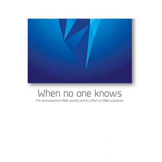 white paper: When No One Knows