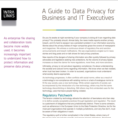 Intralinks white paper introduction to data privacy preview