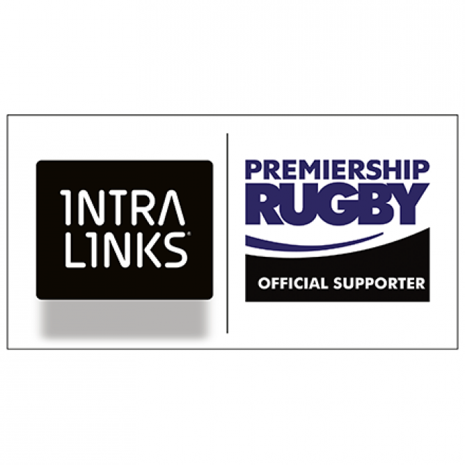 Intralinks + Premiership Rugby logos