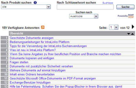 Intralinks Screenshot German