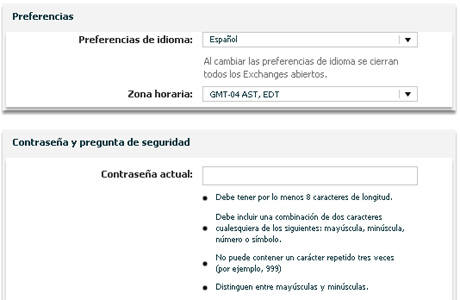 Intralinks Screenshot Spanish