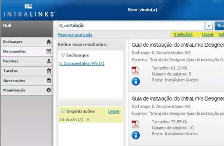 Intralinks Screenshot Portuguese