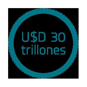 U$D 30 trillones