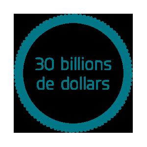 30 billions de dollars