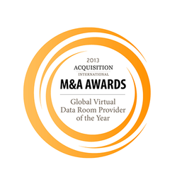Acquisition International M&A Award 2013: Global Virtual Data Room Provider of the Year