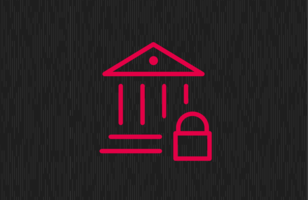 Secure banking and securities icon