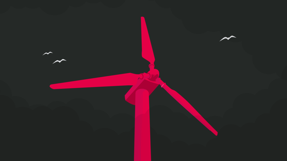 Illustration of wind turbine