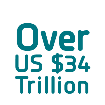 Over US $34 Trillion