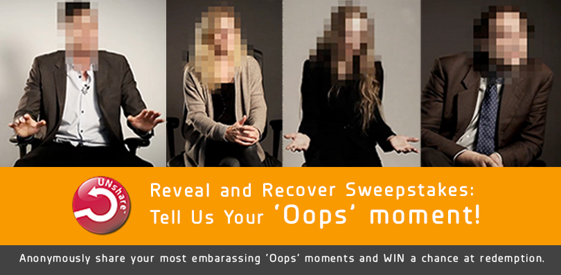 Intralinks UNshare Reveal and Recover Sweepstakes