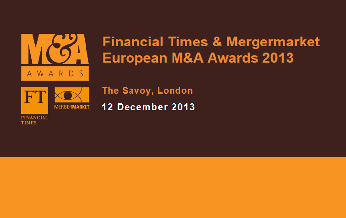 Financial Times & Mergermarket European M&A Awards
